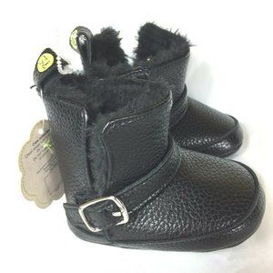 First Steps by Stepping Stones Baby Boots Faux Fur